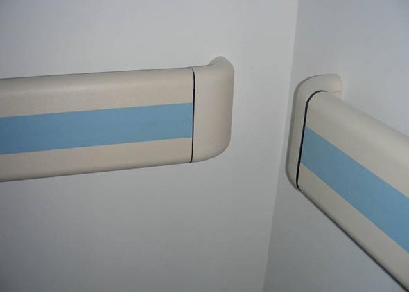 张家口防撞扶手标蓝色红色扶手
