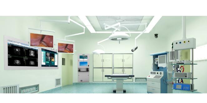 河北某医院数字化手术室设备安装完成