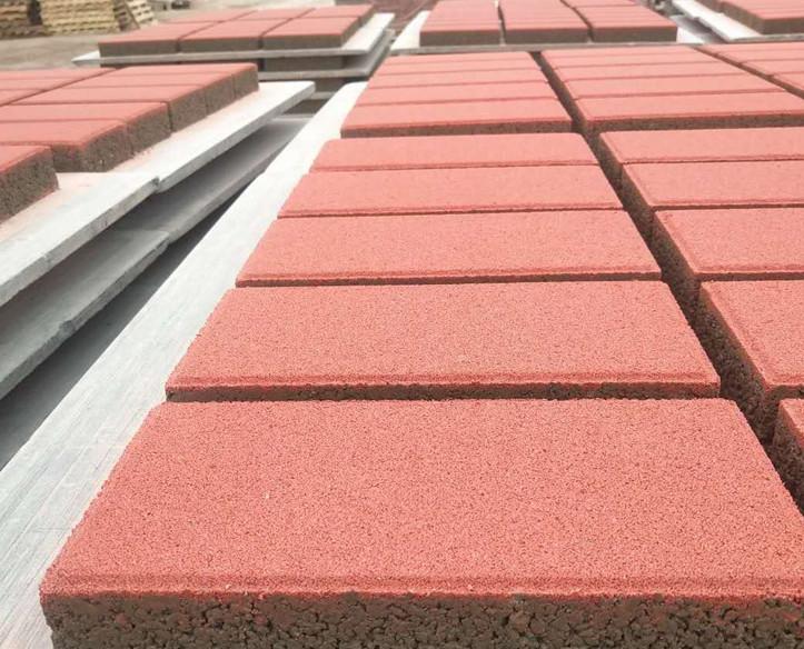 张家口混凝土便道砖人行道红色