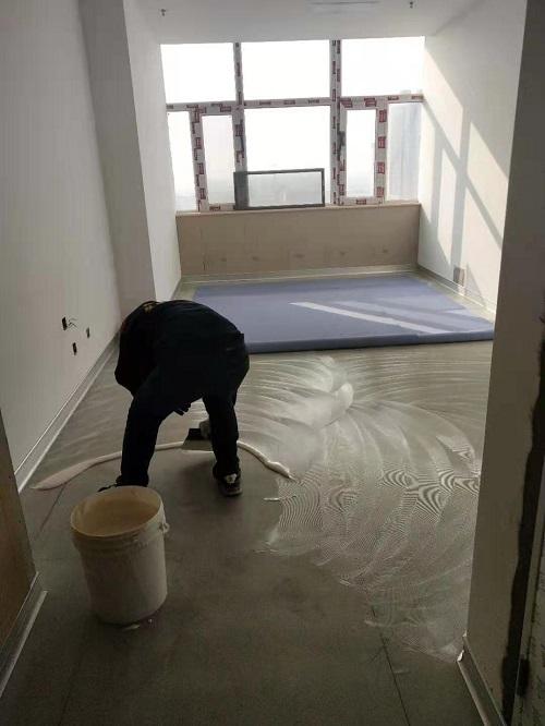山大醫院交城分院項目歐朗膠水刮涂效果