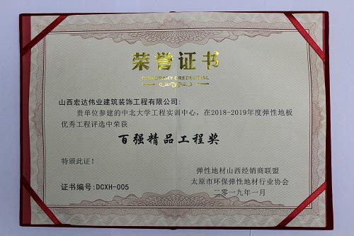 中北大學項目百強精品工程獎