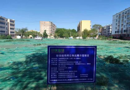 新疆昌吉玛纳斯县团结路(东侧)国土储备地抑尘项目