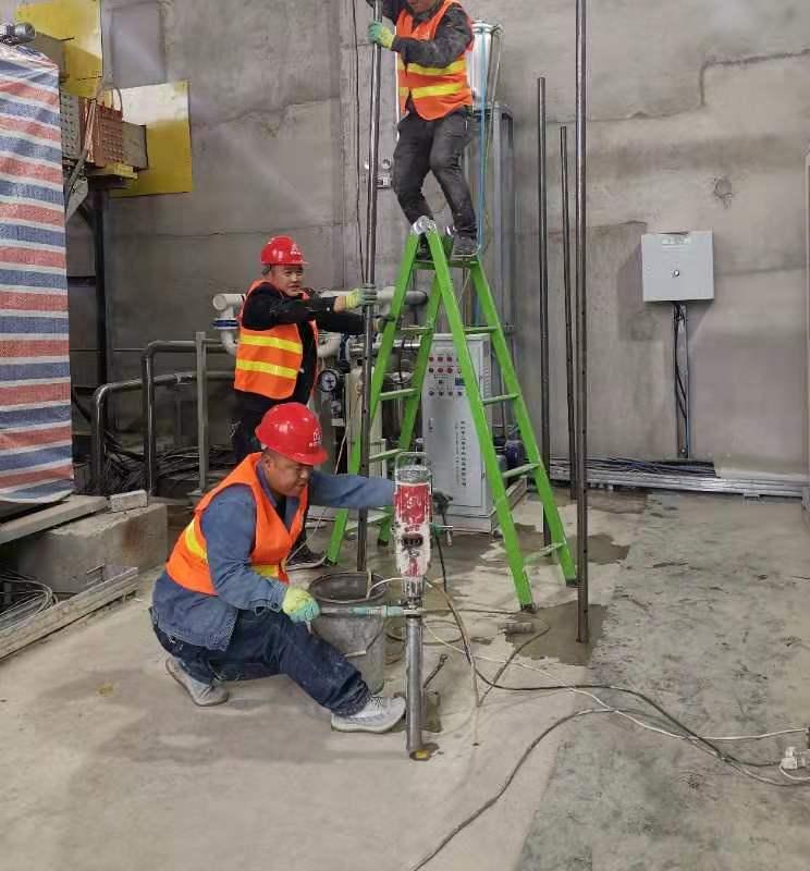 兰州新区某厂区地基加固施工现场