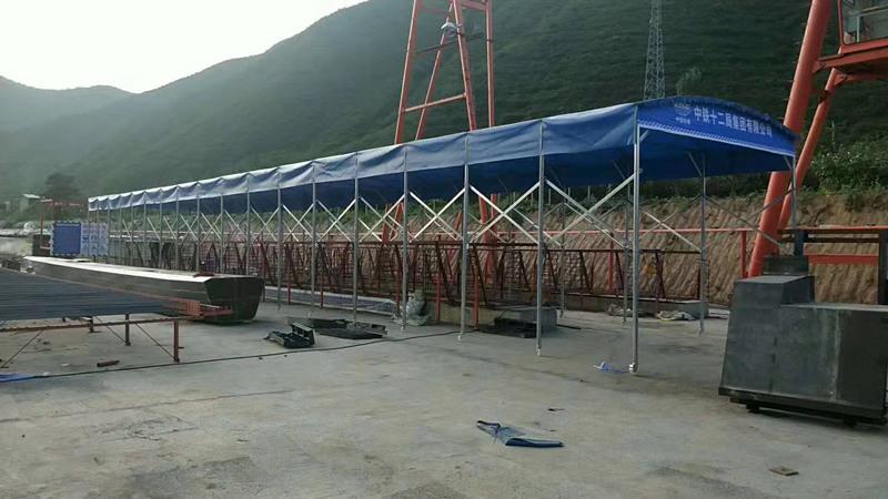 西安伸缩雨棚安装