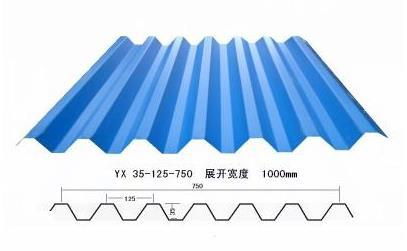 YX35-125-750型小波浪彩钢瓦