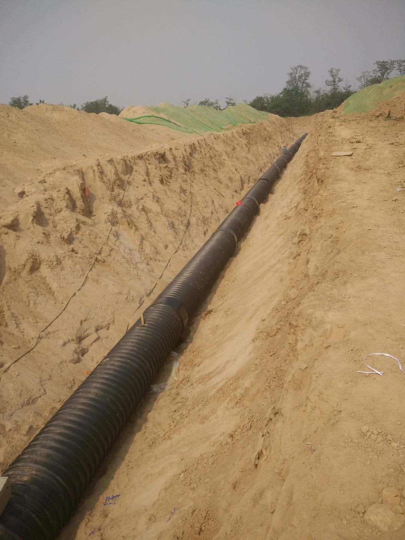 陕西钢带增强螺旋波纹管施工案例