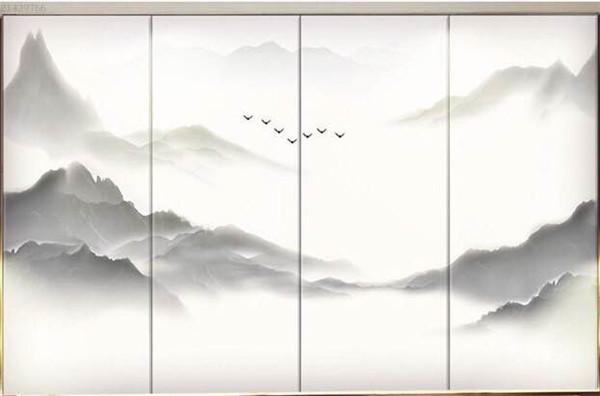西安山水画夹胶玻璃安装