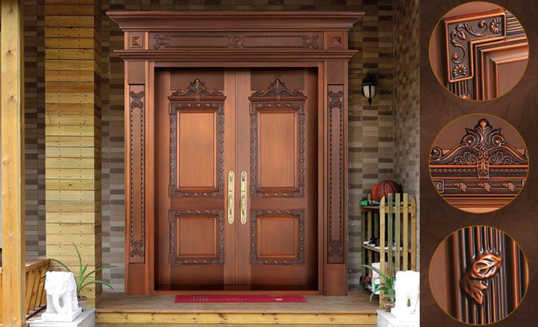 别墅区都选择安装使用豪华别墅铜门