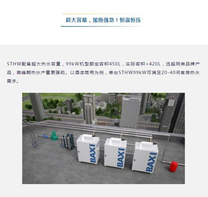 BAXI商用新品,冷凝燃气容积式两用机组硬核上市!