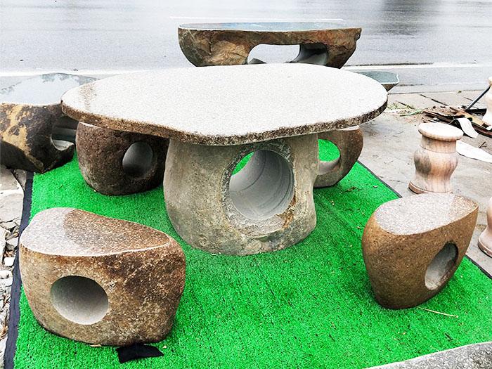 曲陽庭院石桌石凳廠家產品簡介