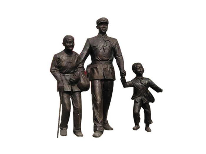 紅色人物雕塑
