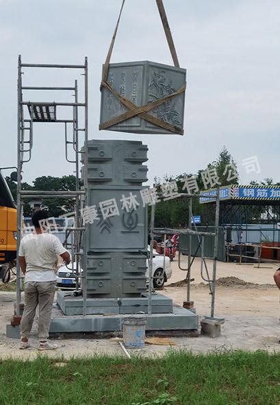 曲陽石雕文化柱的擺放及作用