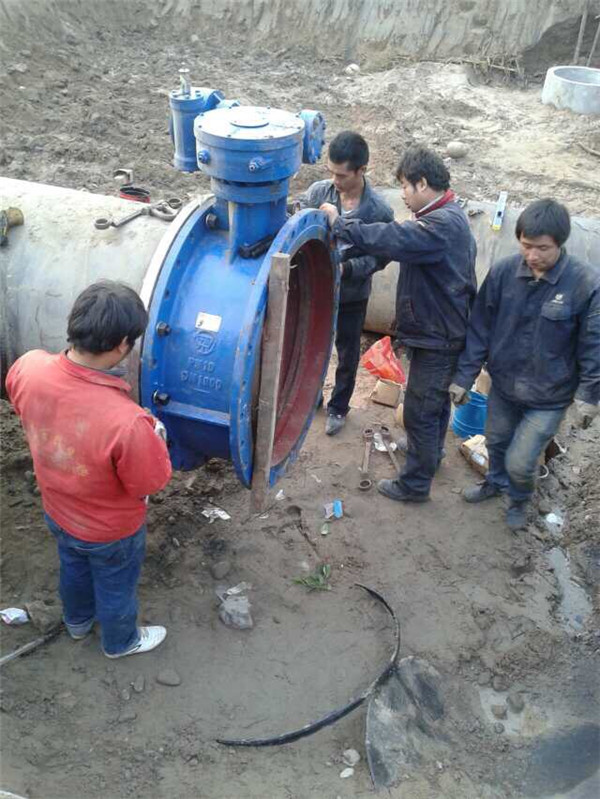 蔡家坡污水处理厂管道安装