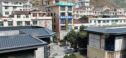 张家川崔湾清真寺一体屋面瓦案例