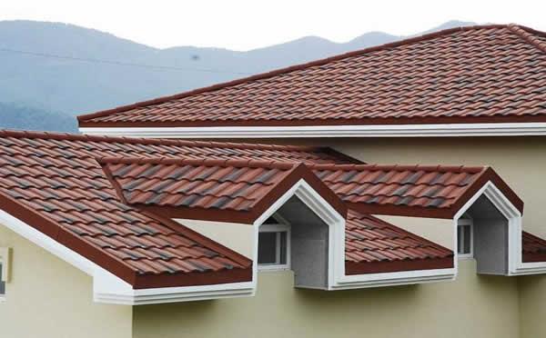 彩石金属瓦适合平改坡建筑改造