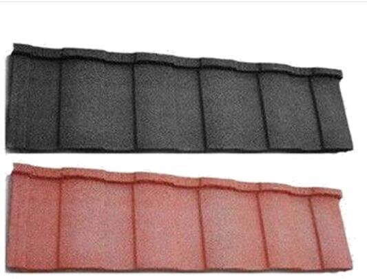 陕西某地平改坡项目彩石瓦案例展示