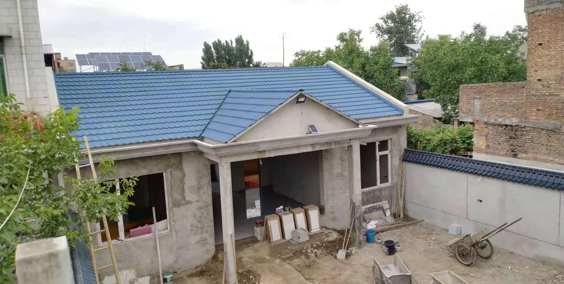陕西户县某农村平改坡彩石瓦项目