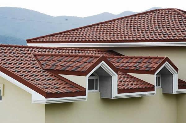 建筑业,彩石金属瓦,价格的优势