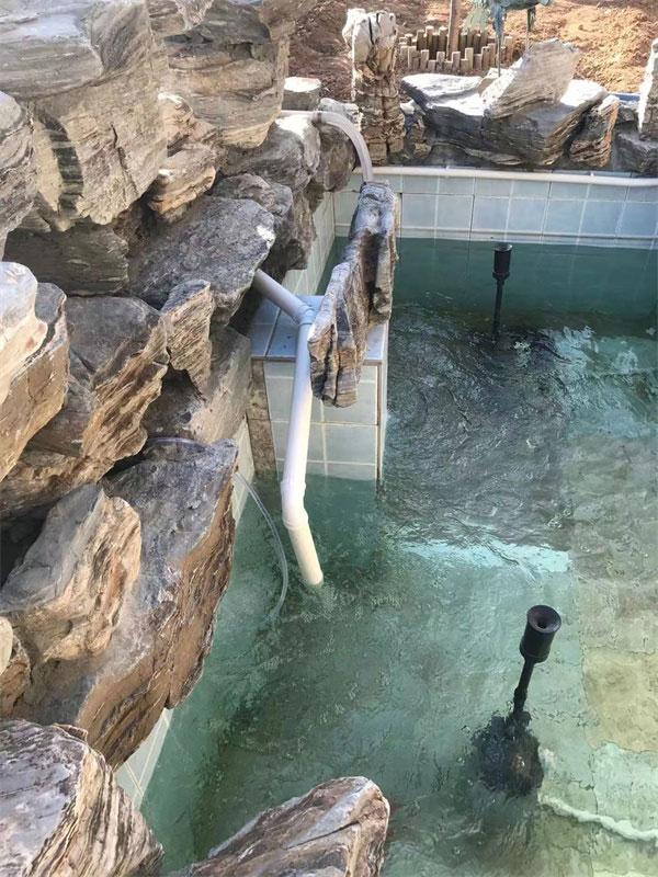 安装免拆洗鱼池过滤系统,时刻保持水质清澈。