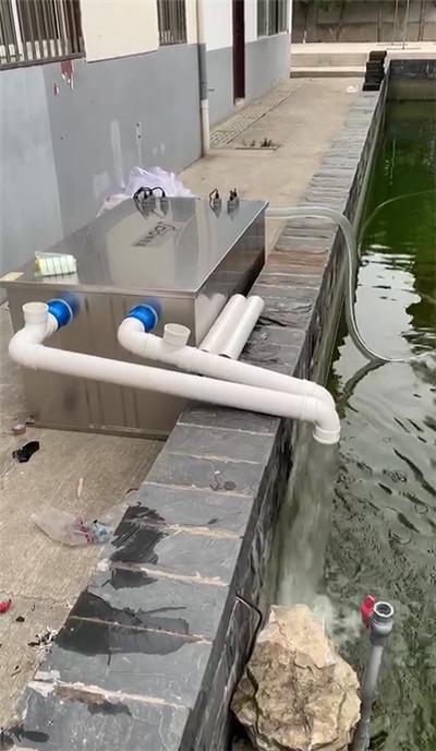 南京庄总,安装赛德清鱼池过滤器SDQ.45T型号设备,试水完成。