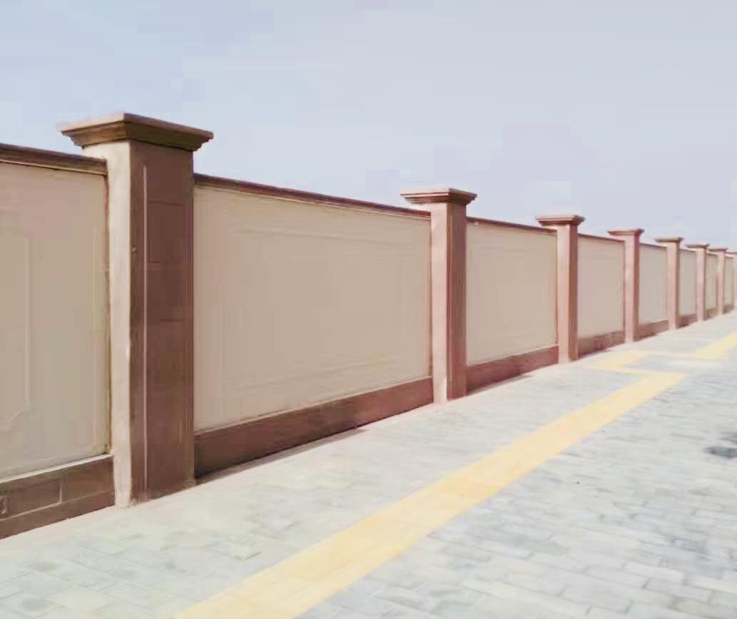 礼泉县烽火村的围墙项目施工
