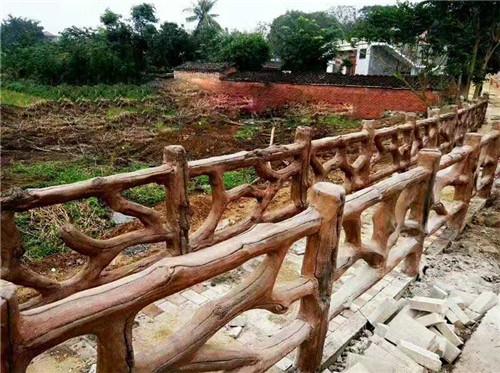 广元水泥仿木栏杆