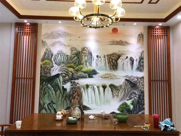 企业背景墙墙体彩绘