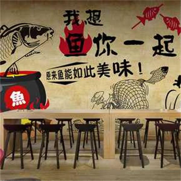 餐厅墙体彩绘