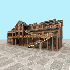 四川仿古木建筑