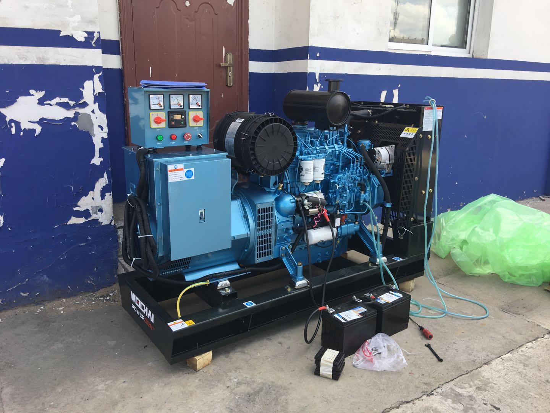 西安汽油发电机总代为神木市某派出所提供50KW潍柴原装发电机组