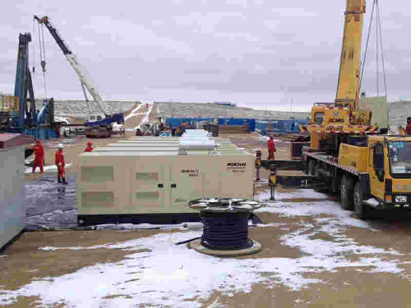 西安汽油发电机总代为新疆某项目提供360KW静音型潍柴原装发电机组