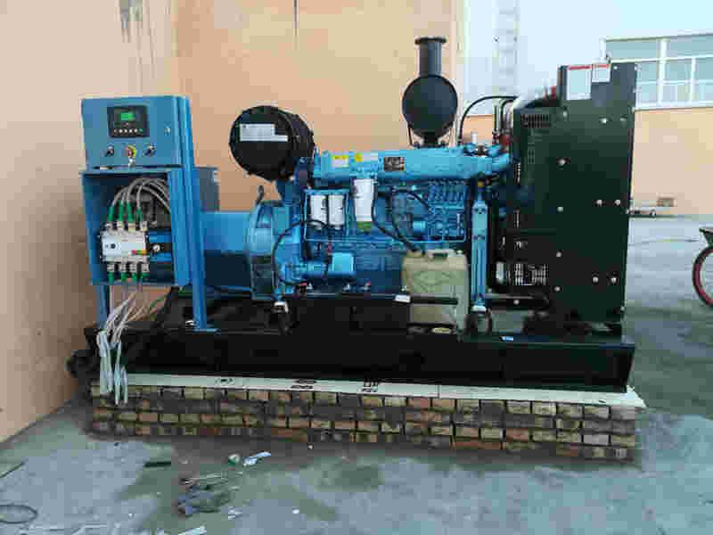 西安汽油发电机总代为榆林东沙某工厂提供200KW潍柴原装发电机组