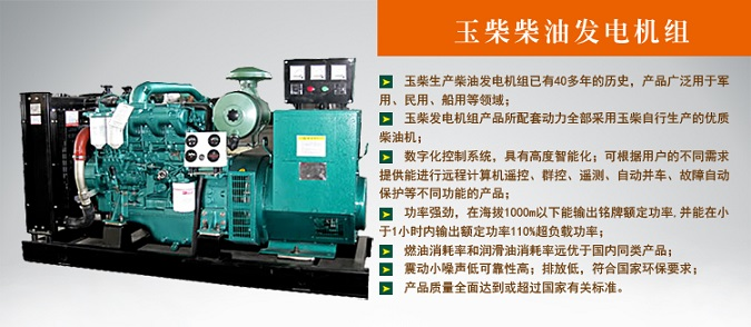 50KW广西玉柴发电机组