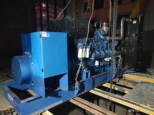 延安宾馆640KW潍柴电力原装发电机组