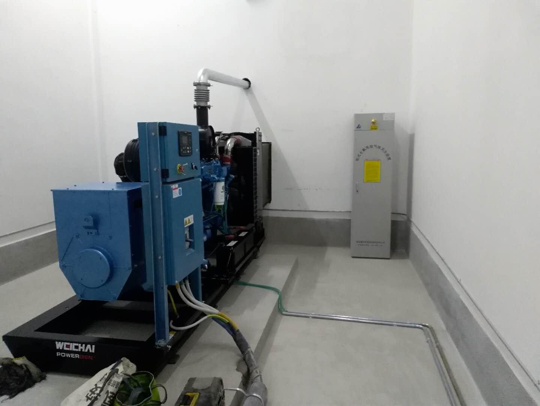 富平某房地产公司200KW潍柴电力原装发电机组