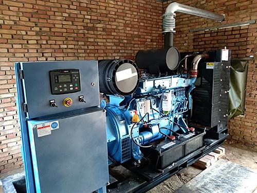 渭南市某大型养殖企业200KW潍柴电力原装发电机组