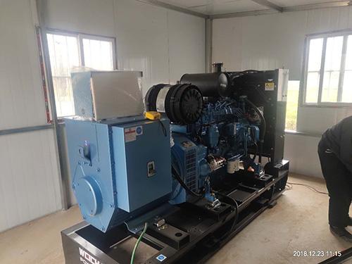 西安某消防器材生产厂家120KW潍柴电力原装发电机组