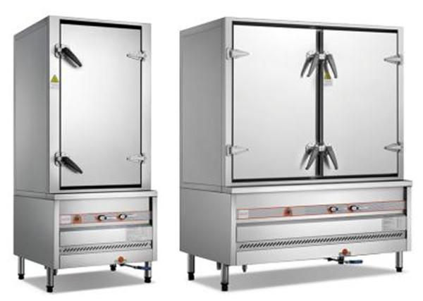 环保燃气单开门或双开门蒸柜