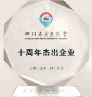 四川省广东商会十周年杰出企业