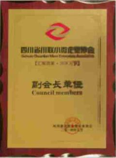 四川省川联小微企业协会副会长单位
