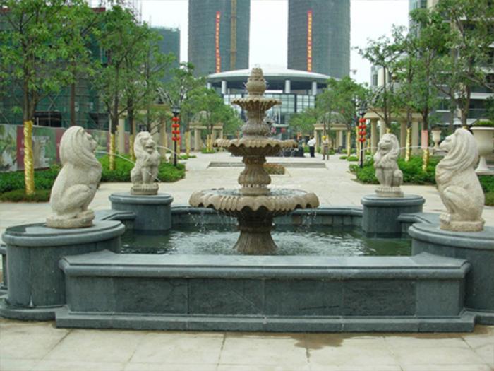 假山喷泉展示