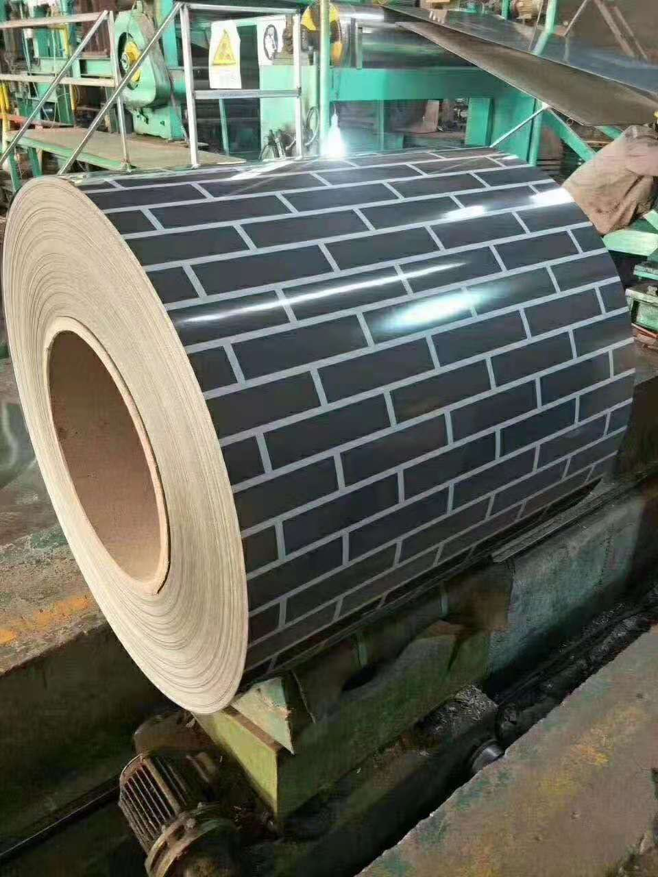 黑砖白缝彩钢板