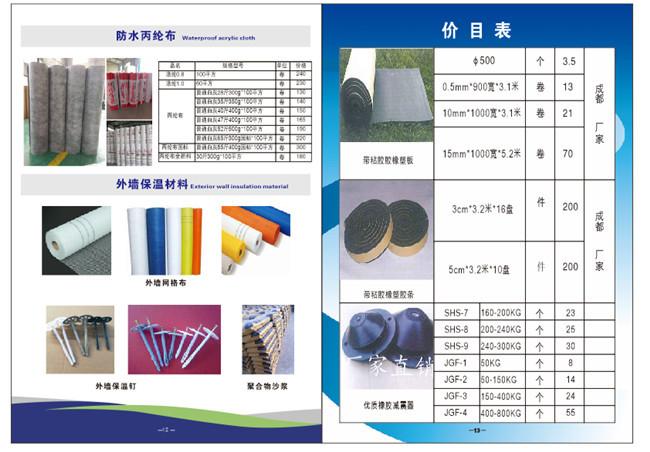 保温材料价格列表