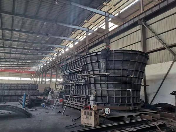 铁路双曲墩柱模板加工