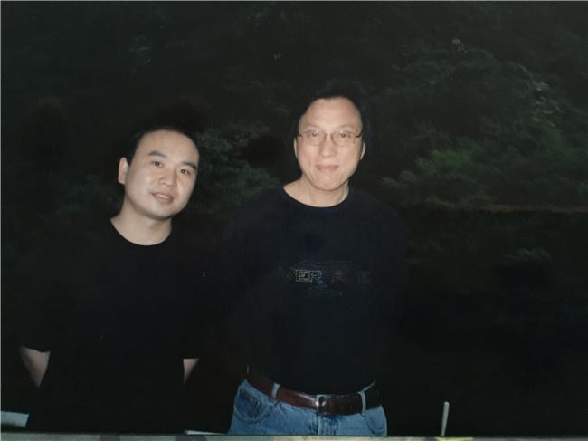 与江文湛老师合影