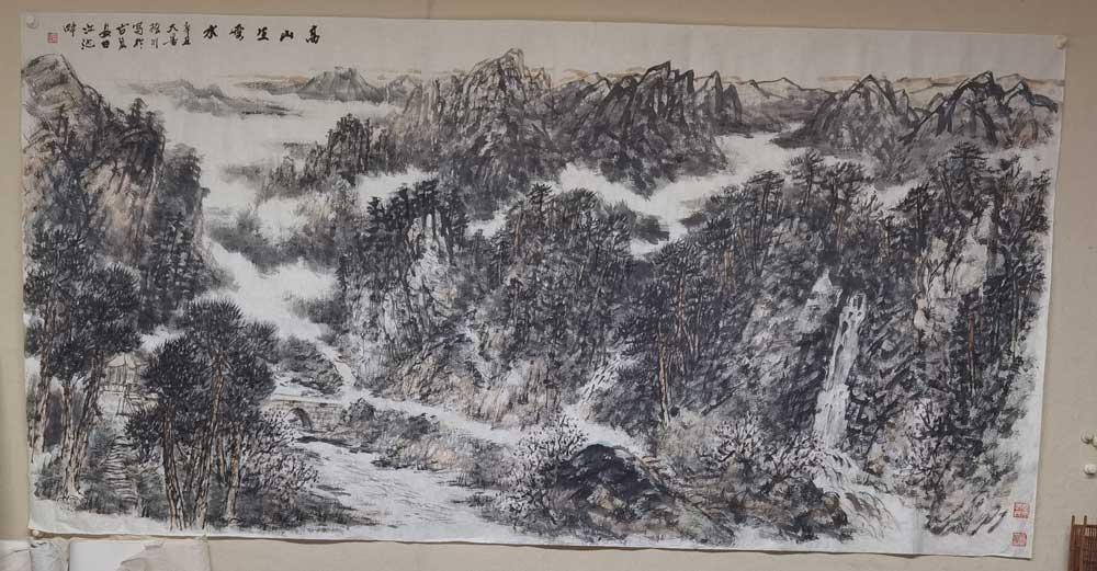 赵振川八尺山水,尺寸125/245