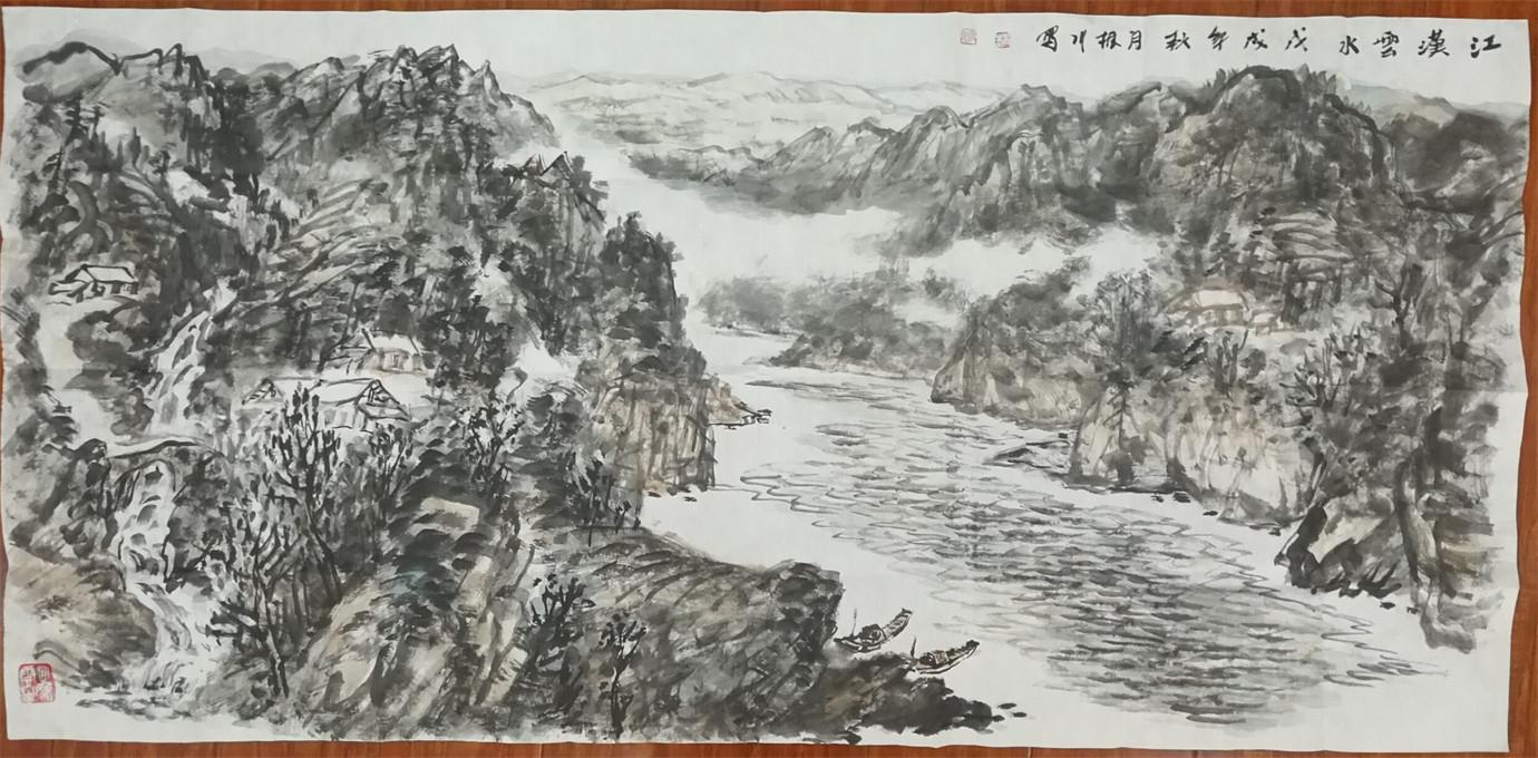 赵振川,四尺山水,尺寸138/68