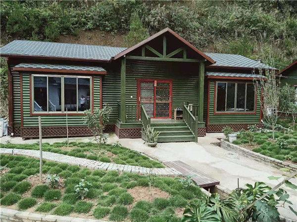 广西梧州私人养生会所防腐木木屋