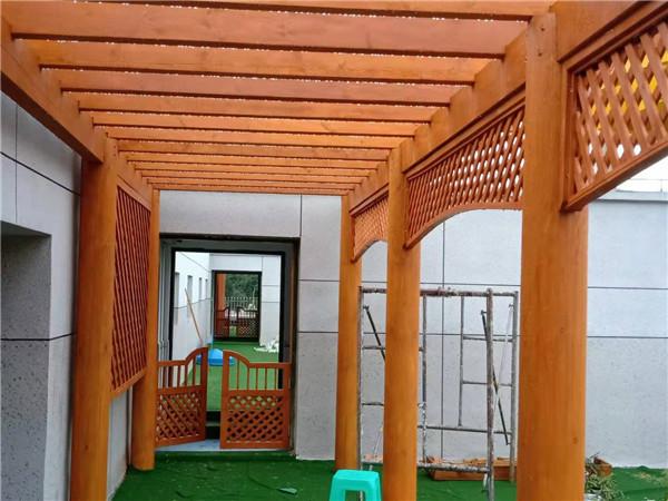 防腐木廊架搭建