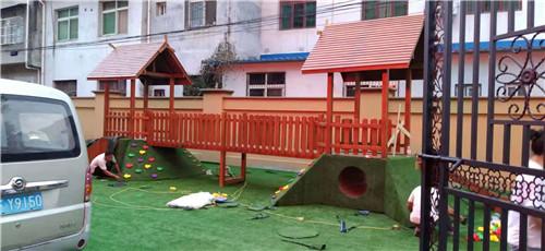 防腐木幼儿园玩具